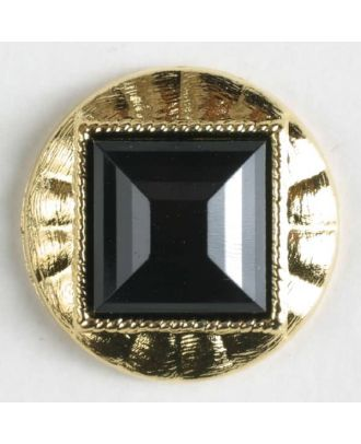 two-piece button with shank - Size: 18mm - Color: black - Art.No. 290176
