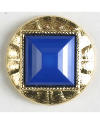 two-piece button with shank - Size: 18mm - Color: blue - Art.No. 293023