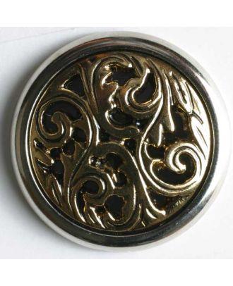 polyamide button - Size: 28mm - Color: antique gold - Art.No. 360164