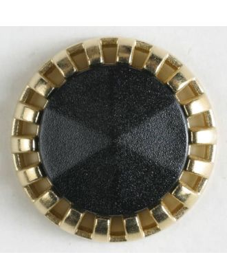 two-piece button with shank - Size: 18mm - Color: black - Art.No. 290498
