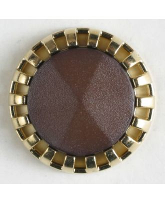 two-piece button with shank - Size: 23mm - Color: brown - Art.No. 320337