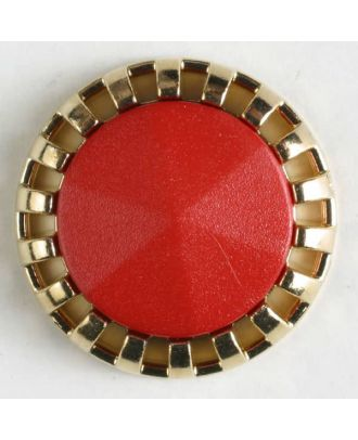 two-piece button with shank - Size: 23mm - Color: red - Art.No. 320340