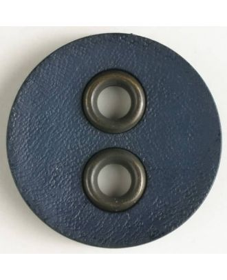 plastic button with metal holes - Size: 32mm - Color: navy blue - Art.No. 400081