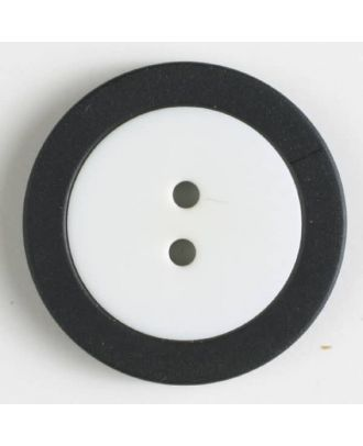 two part button with holes - Size: 25mm - Color: white - Art.No. 330818