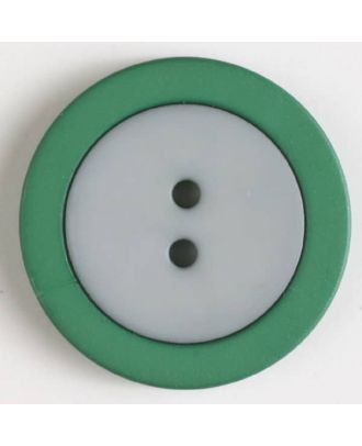 two part button with holes - Size: 25mm - Color: grey - Art.No. 330819