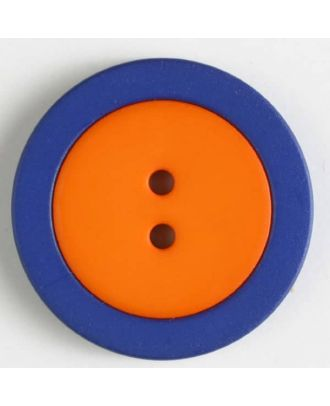 two part button with holes - Size: 25mm - Color: orange - Art.No. 330822