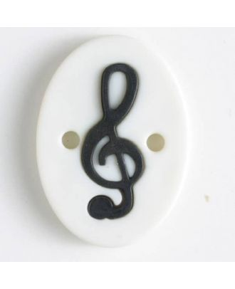 two part button with holes - Size: 25mm - Color: white - Art.No. 330823