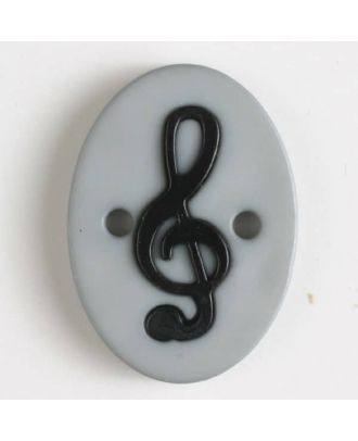 two part button with holes - Size: 25mm - Color: grey - Art.No. 330824
