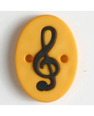 two part button with holes - Size: 25mm - Color: yellow - Art.No. 330827