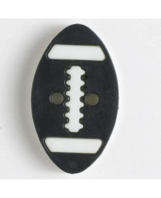 two part button with holes - Size: 25mm - Color: black - Art.No. 330828