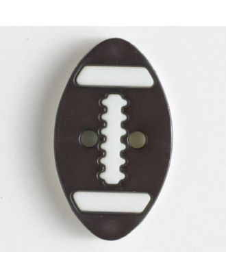 two part button with holes - Size: 25mm - Color: brown - Art.No. 330829