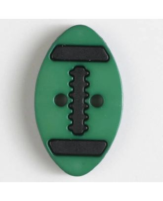 two part button with holes - Size: 25mm - Color: green - Art.No. 330830