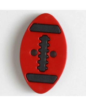two part button with holes - Size: 25mm - Color: red - Art.No. 330831
