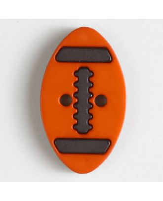 two part button with holes - Size: 25mm - Color: orange - Art.No. 330832