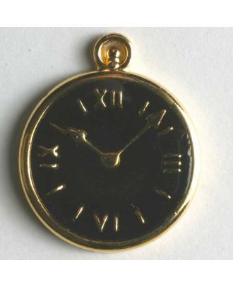 Watch button, full metal - Size: 20mm - Color: black - Art.No. 350084