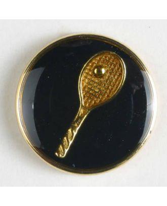 Tennis blazer button - Size: 15mm - Color: blue/gold - Art.No. 300122