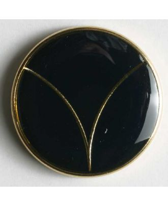 Blazer button, full metal - Size: 20mm - Color: blue/gold - Art.No. 340118