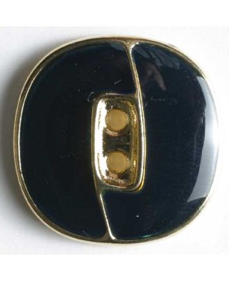 Blazer button, full metal - Size: 23mm - Color: blue - Art.No. 350118