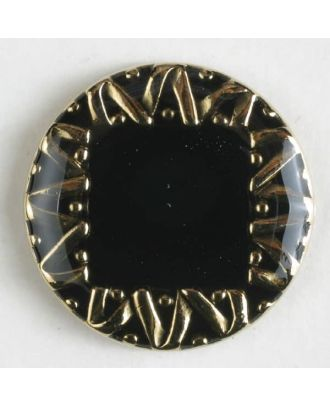 Jewellery button, full metal - Size: 28mm - Color: black - Art.No. 420014
