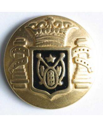 Coat of arms button, full metal - Size: 23mm - Color: black - Art.No. 360275