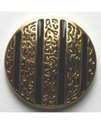 Jewellery button, full metal - Size: 25mm - Color: black - Art.No. 370176