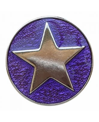 full metal button star with shank  - Size: 25mm - Color: purple - Art.No. 380399