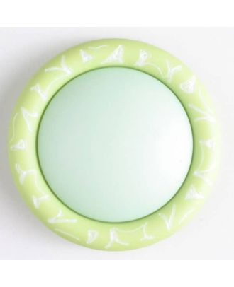 plastic button with shank - Size: 34mm - Color: green - Art.No. 400101