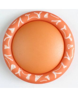 plastic button with shank - Size: 34mm - Color: orange - Art.No. 400103