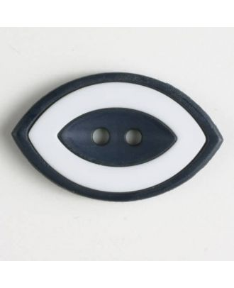 fashion button  oval - Size: 38mm - Color: navy blue - Art.No. 400222
