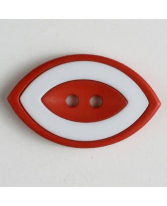 fashion button  oval - Size: 38mm - Color: red - Art.No. 400224