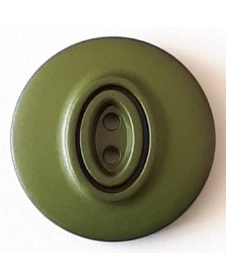 polyamide button with 2 holes - Size: 20mm - Color: green - Art.No. 338744