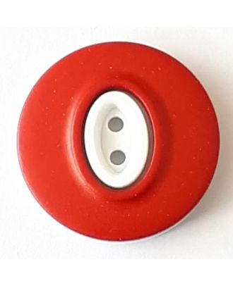 polyamide button with 2 holes - Size: 25mm - Color: red - Art.No. 378737
