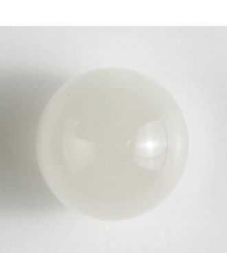 ball polyester button with a flat shank - Size: 10mm - Color: white - Art.No. 190943