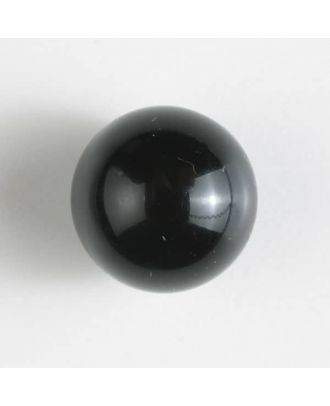ball polyester button with a flat shank - Size: 10mm - Color: black - Art.No. 190944