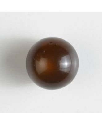 ball polyester button with a flat shank - Size: 10mm - Color: brown - Art.No. 191073