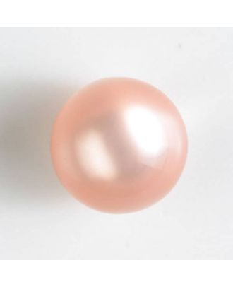 ball polyester button with a flat shank - Size: 10mm - Color: pink - Art.No. 191076