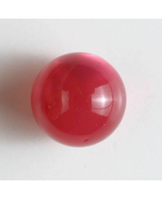 ball polyester button with a flat shank - Size: 14mm - Color: pink - Art.No. 221829