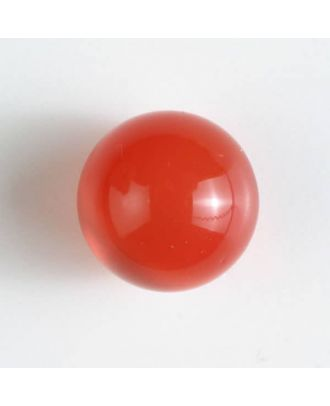 ball polyester button with a flat shank - Size: 14mm - Color: red - Art.No. 221830