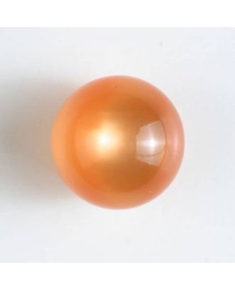 ball polyester button with a flat shank - Size: 14mm - Color: orange - Art.No. 221832