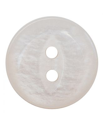 polyester button round shape with shiny surface and 2 holes - Size: 13mm - Color: weiß - Art.No.: 241273