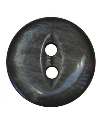 polyester button round shape with shiny surface and 2 holes - Size: 13mm - Color: grau - Art.No.: 247800