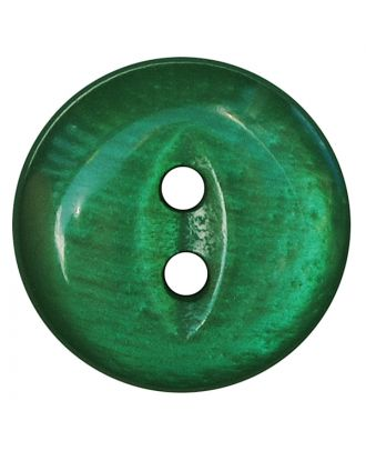 polyester button round shape with shiny surface and 2 holes - Size: 13mm - Color: grün - Art.No.: 247806