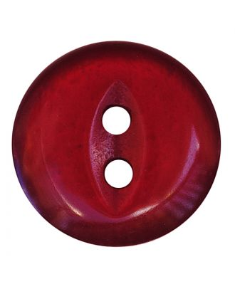 polyester button round shape with shiny surface and 2 holes - Size: 13mm - Color: weinrot - Art.No.: 247811