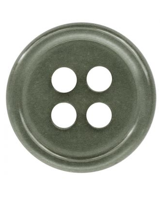 polyester button round shape with shiny surface and 4 holes  - Size: 9mm - Color: grau - Art.No.: 197800