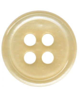 polyester button round shape with shiny surface and 4 holes  - Size: 11mm - Color: beige - Art.No.: 217801
