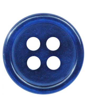 polyester button round shape with shiny surface and 4 holes  - Size: 11mm - Color: blau - Art.No.: 217806