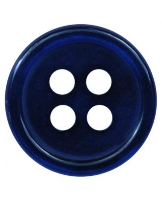 polyester button round shape with shiny surface and 4 holes  - Size: 11mm - Color: dunkelblau - Art.No.: 217807