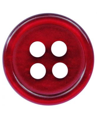 polyester button round shape with shiny surface and 4 holes  - Size: 11mm - Color: weinrot - Art.No.: 217812