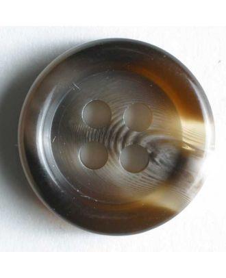 Suit button - Size: 11mm - Color: brown - Art.No. 180073