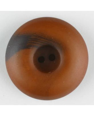 polyester button, round, 2 holes - Size: 30mm - Color: brown - Art.-Nr.: 384714
